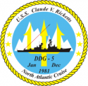DDG-5 Cruise Decal