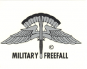 Military Freefall Decal (Large)