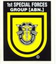 Special Forces 1st Group Decal LG
