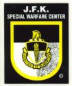 JFK Special Warfare Center Decal