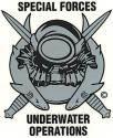 Special Forces Underwater Operations Decal