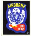 Army 503rd Infantry (The Rock) Airborne Decal