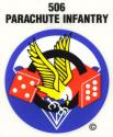 Army 506th Parachute Infantry (Para Dice) Airborne Decal
