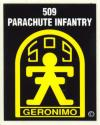 Army 509th Parachute Infantry Airborne Decal
