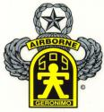 Army 509th Airborne  w/Master Wings Decal