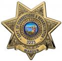 California Department of Corrections and Rehabilitation (Warden)  Badge all Meta