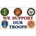We Support Our Troops Flag