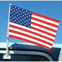 Heavy Duty Doulbe Sided USA Car Flag