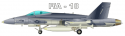 F/A-18 Fighter Jet Decal