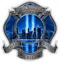 BLUE SKIES HIGH HONOR FIREFIGHTER 911 DECAL