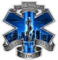 911 EMS BLUE SKIES WE WILL NEVER FORGET DECAL
