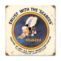 Sea Bees Metal Sign