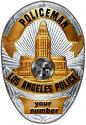 Los Angeles (Policeman) Department Officer's Badge all Metal Sign with your badg