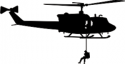 UH-1 Iroquois Huey Silhouette 2 Helicopter Decal