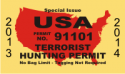 Terrorist Hunting License Decal