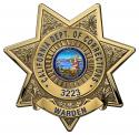California Department of Corrections (Warden) Badge all Metal Sign with your Bad
