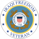 Iraqi Freedom Veteran 2 - Coast Guard   Decal