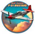 3-D P-51 MUSTANG METAL SIGN