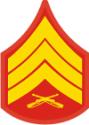E-5 SGT Sergeant (Gold) Decal