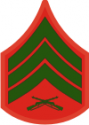 E-5 SGT Sergeant (Green) Decal