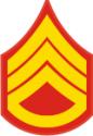E-5 SSGT Staff Sergeant Pre-1959 (Gold)  Decal