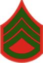E-5 SSGT Staff Sergeant Pre-1959 (Green)  Decal