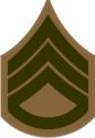 E-5 SSGT Staff Sergeant Pre-1959 (Khaki)  Decal