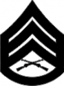 E-6 SSGT Staff Sergeant (Black) Decal