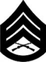 E-6 SSGT Staff Sergeant (Black) Decal