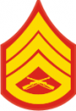 E-6 SSGT Staff Sergeant (Gold) Decal