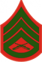 E-6 SSGT Staff Sergeant (Green) Decal