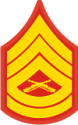 E-7 GYSGT Gunnery Sergeant (Gold) Decal