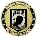 POW MIA Emblem Medallion