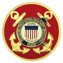 Brass Metal Coast Guard Medallion