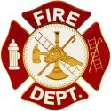 Metal Fire Dept. Medallion Car Grill 3""