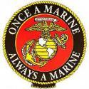 Once a Marine Always a Marine EGA Magnet