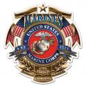USMC BADGE OF HONOR DECAL