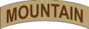 Mountain Tab Decal  (Tan)