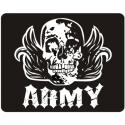 Army with Skull Mouse Pad