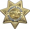 Sonoma County, California Sheriff's Department Badge All Metal Sign With Your Ba