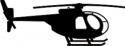 OH-6 Hughes Silhouette Helicopter Decal