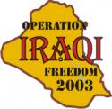 Operation Iraqi Freedom 2003 Decal