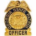 Georgia State Patrol Police Badge Pin