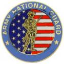 Large Army National Guard Pin