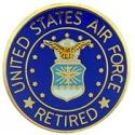 Air Force Retired Logo Pin
