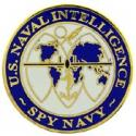 Navy Intel Pin