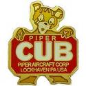 Piper Cub Logo Pin
