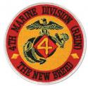 4th Marine Division Rein The New Breed Patch