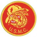 USMC with Bulldog Round Patch