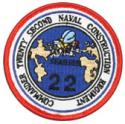 Commander 22nd Naval Construction Regiment Patch